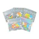 100 PCS Aspire Mini Storage Pouch Zip Bags, Laser Mylar Pouch Bags