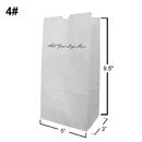 Custom White Kraft Paper Grocery Bag/Lunch Bag, 5