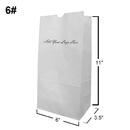 Custom White Kraft Paper Grocery Bag/Lunch Bag, 6