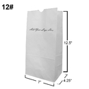 Custom White Kraft Paper Grocery Bag/Lunch Bag, 7