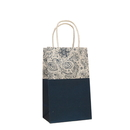 10 PCS Elegant Flower Pattern Paper Shopping Bags with Twisted Handle, 5