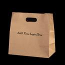 Custom Die-cut Paper Take Out Bag, 11