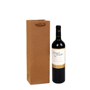 Blank Natural Kraft Wine Bags Single Wine Gift Shopping Bags with Handles, 4 2/5W