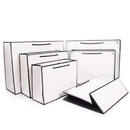 Premium Quality Black Frame Paper Gift Bags, Best for Shopping Bags, White Valentine's Gift Bags(S-XL)