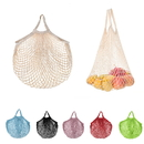 Custom Cotton Net String Bag Organizer for Grocery, Shopping, Beach, Fruit, Vegetable
