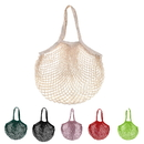 Custom Cotton Net Shopping String Bag with Long Handles for Fruit Vegetable Storage Beach