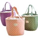 Cute Dot Pattern Insulated Lunch Bag Tote, 6 1/2