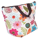 Flower Pattern Lunch Cooler Tote Bag, 13 1/4