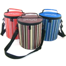 Insulated Stripe Outdoor Picnic Bag, 7 1/2