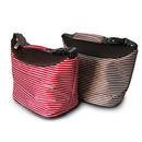 Blank Insulated Stripe Outdoor Picnic Bag With strap, Red Or Brown, 7 7/8