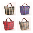 Blank Insulated Stripe Outdoor Picnic Bag With strap- 9