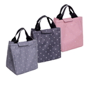 Opromo Reusable Thermal Foldable Lunch Bag Tote Picnic Lunch Box Holder Insulated Lunch Cooler Bag