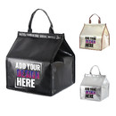 Custom Insulated Lunch Bag Non-Woven Grocery Tote Bag Take-out Cooler Bag