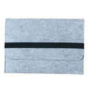 Green and Gray Felt Laptop Sleeve with Belt Closure and Pockets For 13