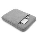 Zipper Gray Macbook Laptop Sleeve with Cotton Lining, 2 Pockets Design