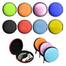 Opromo Earbud Cases Small Round Hard EVA Headphone Box Travel Carrying Case Headset Cases Earphone Cable Storage Container Bag