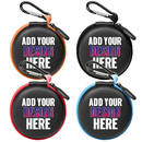 Custom Earbud Cases with Metal Clip Small Round Hard EVA Earphone Cable Storage Container Bag