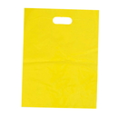 Blank 2.5 Mil Merchandise Bags with Die Cut Handles, 17 3/4