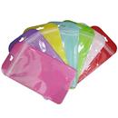 50 PCS Clear/Non-woven Plastic Reclosable Bag, 4 1/4