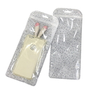 50 PCS Clear/Non-woven White Zippered Bag, 4 1/4