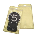 50 PCS Clear/Non-woven Gold Zippered Bag, 5 1/4