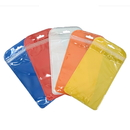 50 PCS Clear/Colored Plastic Zip Lock Bag, 4 1/4