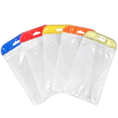 50 PCS Colored Handle Clear/White Reclosable Plastic Packaging Bag, 4 3/4