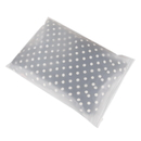 50 PCS Frosted Slider Reclosable Bag Zipper Plastic Bags, 13 3/4