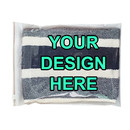 Custom Clear/White Slider Zip Lock Bags, 7 3/4