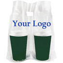 Custom 2-Cup Take-Out Bags, 12