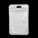 50 PCS Re-sealable Clear/Gloss White Zip Lock Bag, 2 3/4