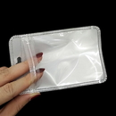 50 PCS Re-sealable Clear/Gloss White Zip Lock Bag for Phone Accessories Packaging, 3 1/4