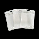 50 PCS Re-sealable Clear/Gloss White Zip Lock Bag, 4