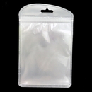 50 PCS Re-sealable Clear/Gloss White Zip Lock Bag, 4 1/4
