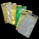 50 PCS Clear/Foil Zip Top Re-Closable Poly Bag (Silver,Gold), 3 1/4