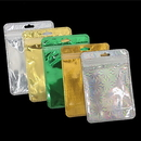 50 PCS Clear/Foil Zip Top Re-Closable Poly Bag (Silver,Gold), 4