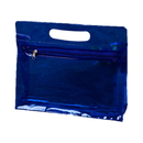 """Waterproof Clear Plastic Bag with Zipper and Handle, 11""""W x 2 4/5""""D x 9 1/2""""H"""