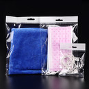 100 PCS Hang TOP Clear Resealable Cellophane Bags w/ Hanging Header