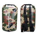 Blank 20-Liter Durable Waterproof Camo Dry Sack with Double Shoulder Strap for Camping/Kayaking/Hiking/Boating/Floating