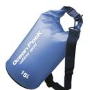 Blank 15-Liter Durable Waterproof Dry Sack with Shoulder Strap