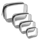 Blank Clear PVC Zippered Carry On Travel Toiletry Bag Cosmetic Makeup Bag(23.6 mil, 6.6