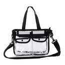 GOGO NFL & PGA Compliant Clear Stadium Security Zippered Shoulder Bag Travel & Gym Tote By Bags