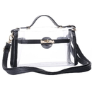 GOGO Womens Clear Crossbody Messenger Shoulder Bag With Adjustable Strap, NFL Stadium Approved