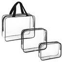 (Price/3 PCS) Aspire Clear Cosmetic Bag Waterproof PVC Transparent Makeup Bag Wash Handbag