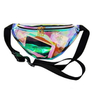 GOGO Holographic Laser Fanny Packs for Women, Shiny Travel Waist Pack Bum Bag