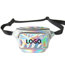 Custom Fanny Pack Waterproof Hologram Laser Waist Bag Travel Chest Pack Bum Bag