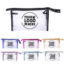 Custom Clear Vinyl Plastic Makeup Bags, Transparent Waterproof Cosmetic Bags with Zipper, Portable Travel Toiletry Pouch