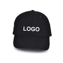 Custom Embroidery 6-Panel Cotton Structured Baseball Caps Adjustable Hook and Loop