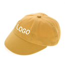 Custom Low Crown Cap Unstructured 6-Panel Bushed Fabric Cap