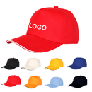 Custom 5-Panel Solid Cotton Twill Baseball Cap with Adjustable Velcro Strap Hat
